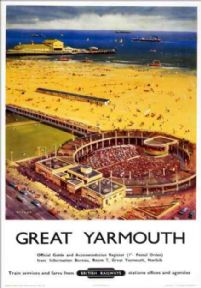 Great Yarmouth, Norfolk. Vintage BR (ER) Travel poster by Bagley.